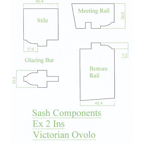 Sash window profiles